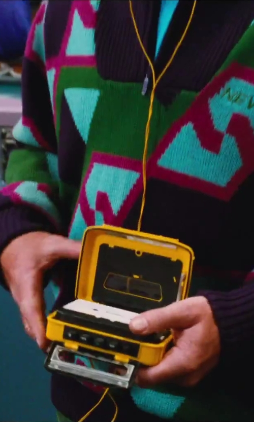 Unknown Actor with Sony Radio Cassette Player Walkman Sports WM-AF54 in Hot Tub Time Machine 2