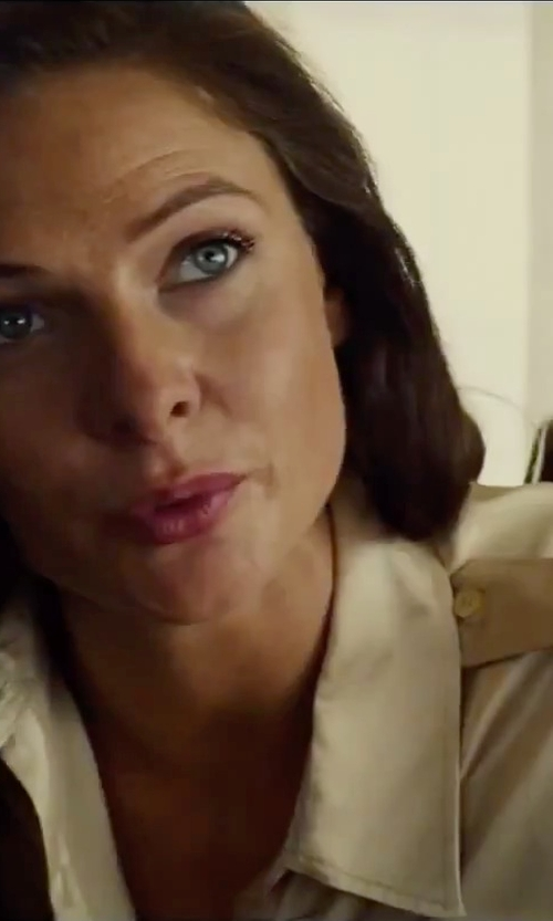 Rebecca Ferguson with Burberry London Washed-Silk Shirt in Mission: Impossible - Rogue Nation
