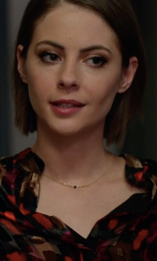 Willa Holland with Peggy Li Single Stone Necklace in Arrow
