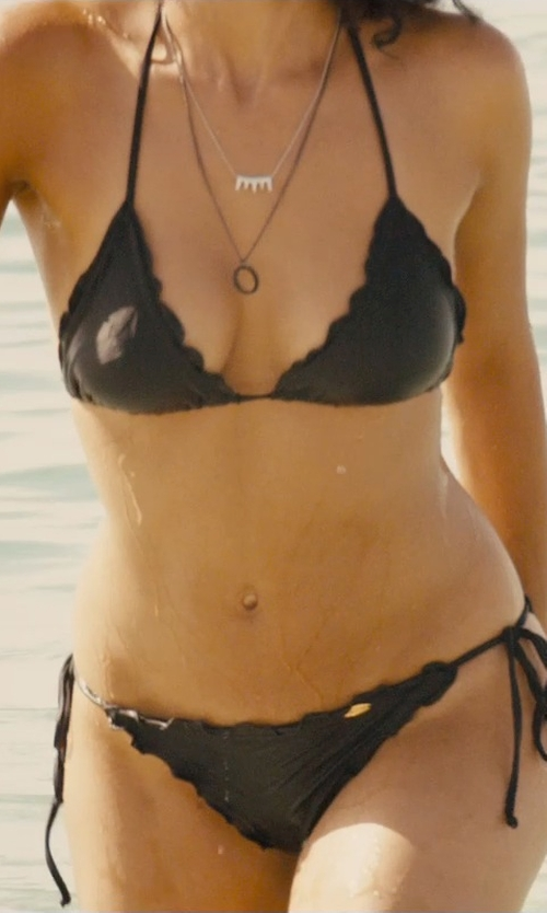 Nathalie Emmanuel with Luli Fama Cosita Buena Wavy Bikini Bottom in Furious 7