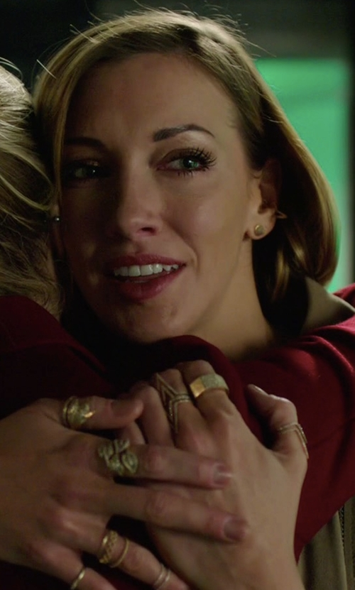 Katie Cassidy with Ron Hami Flair Ring in Arrow
