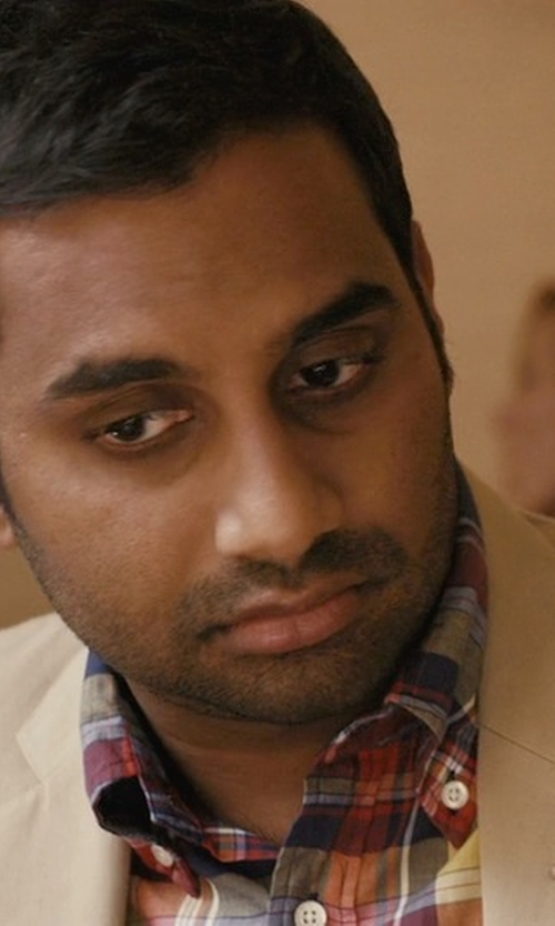Aziz Ansari with Gant Rugger 'Windblown Plaid' Twill Woven Shirt in Master of None