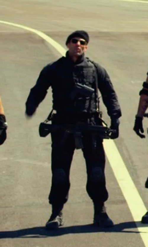 Jason Statham with Marc Jacobs Men's Stomper Combat Boot in The Expendables 3