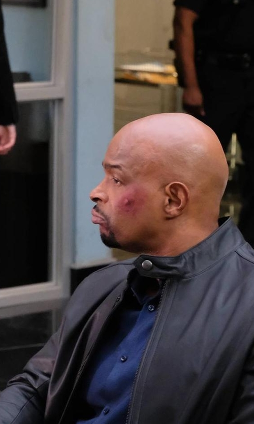 Damon Wayans with Hugo Boss Classic Leather Biker Jacket in Lethal Weapon