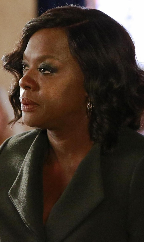 Viola Davis with Tommy Hilfiger Two-Button Herringbone Blazer in How To Get Away With Murder