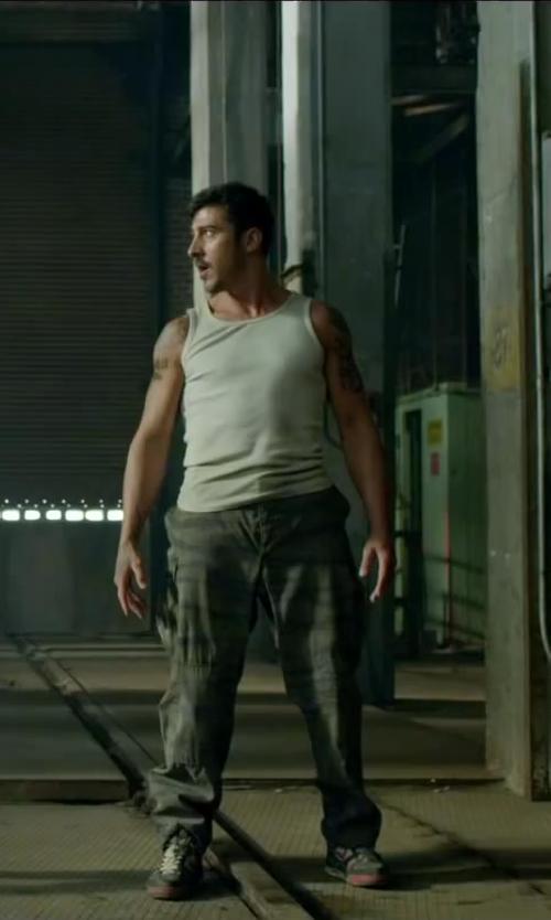 David Belle with G-Star Raw Men's Premium Slim Fit Tank Top in Brick Mansions