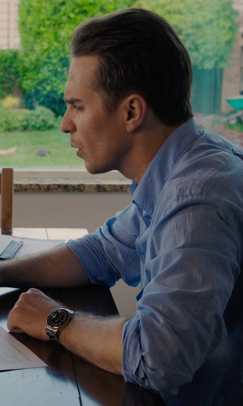 Sam Rockwell with Fossil Chronograph Tachymeter Watch in Laggies