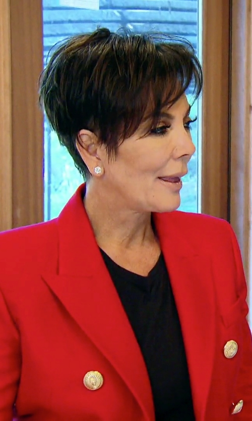 Kris Jenner with Balmain Double-Breasted Cotton Blazer in Keeping Up With The Kardashians