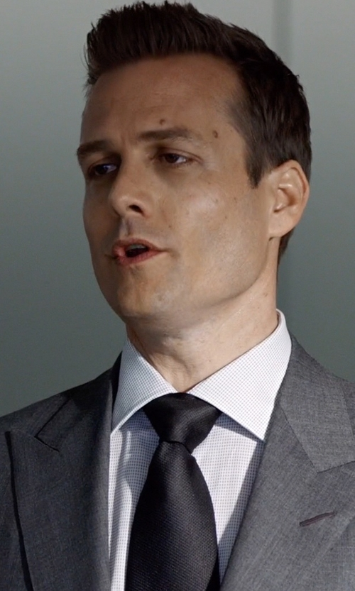 Gabriel Macht with Eton of Sweden Grosgrain Silk Tie in Suits