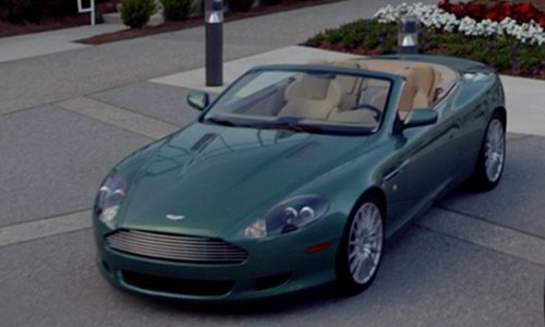 Dominic Cooper with Aston Martin DB9 Volante Coupe in Need for Speed