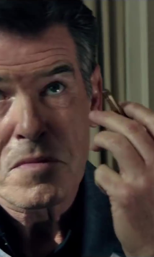 Pierce Brosnan with Theory Slyvain Solid Dress Shirt in The November Man