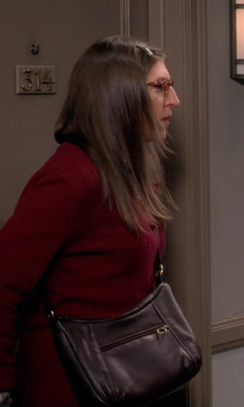 Mayim Bialik with Frye 'Campus' Crossbody Bag in The Big Bang Theory