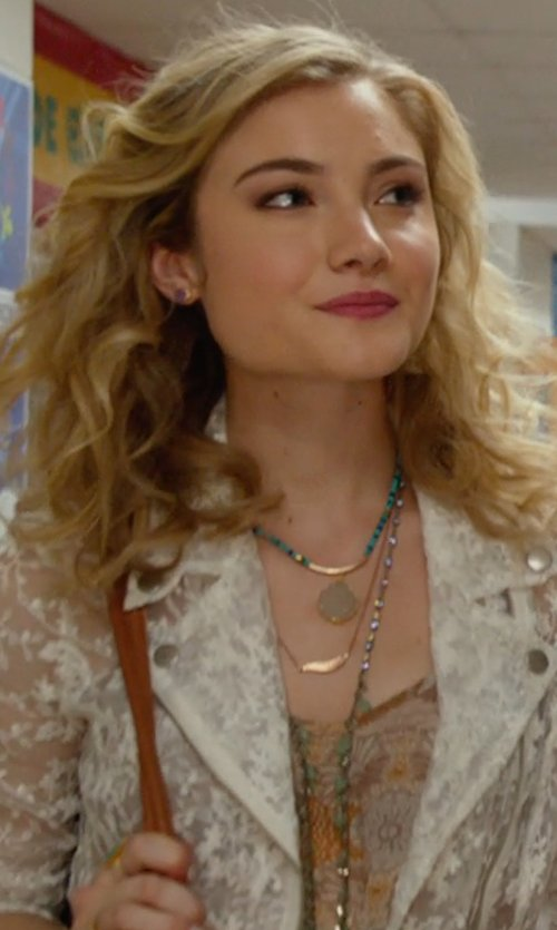 Skyler Samuels with Chan Luu Crystal Beaded Long Necklace in The DUFF