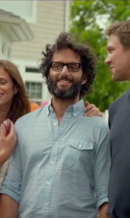 Jason Mantzoukas with Warby Parker Crane Eyeglasses in Sleeping with Other People