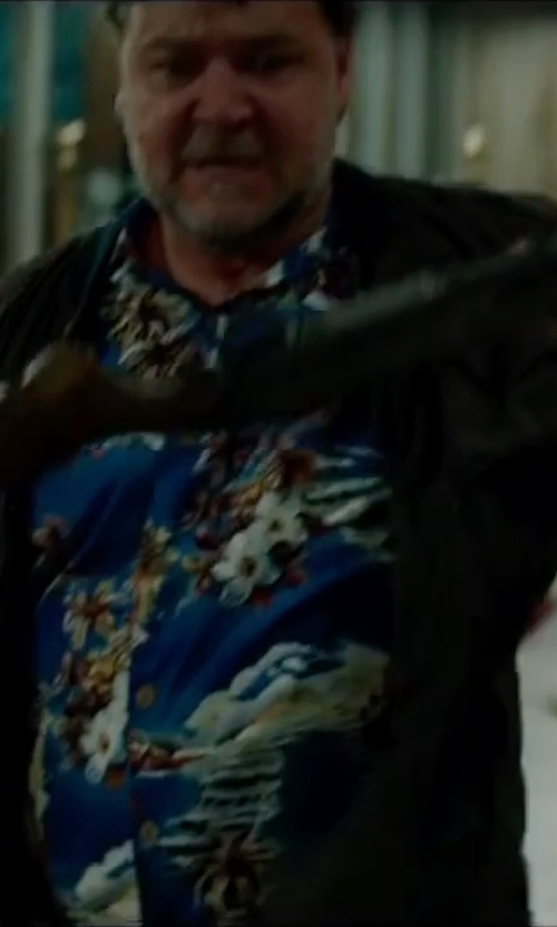 Russell Crowe with Hart Schaffner Marx 'Raider' Wool Blend Jacket in The Nice Guys
