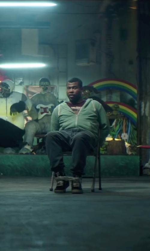 Jordan Peele with Vans M Milton Hi-Top Sneakers in Keanu