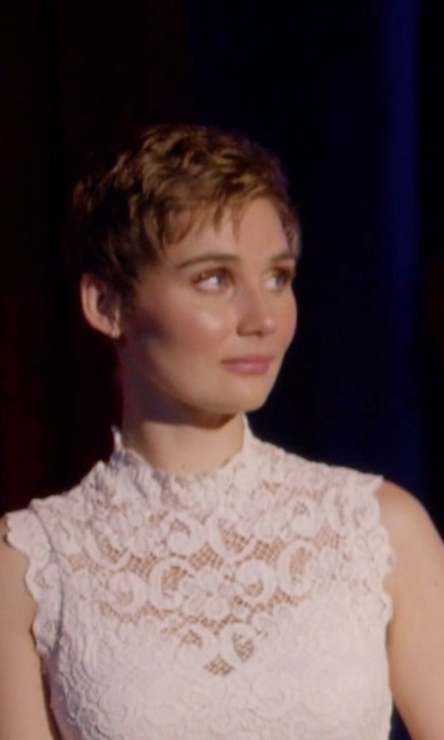 Clare Bowen with Nightcap X Carisa Rene Dixie Lace Crop Top in Nashville