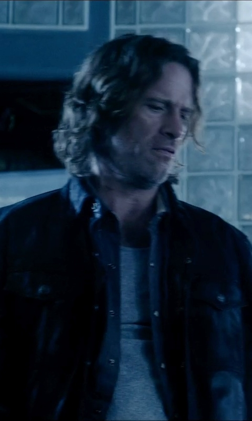 Thomas Jane with Calvin Klein Curve Neck T-Shirt in Vice