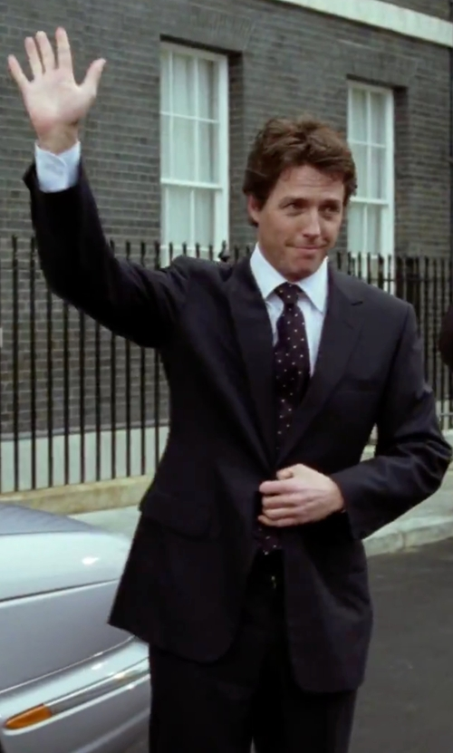 Hugh Grant with Tonello Two Piece Suit in Love Actually