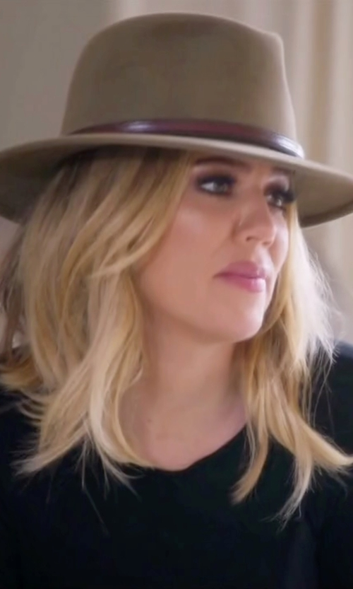 Khloe Kardashian with Brixton Tara Fedora Hat in Keeping Up With The Kardashians