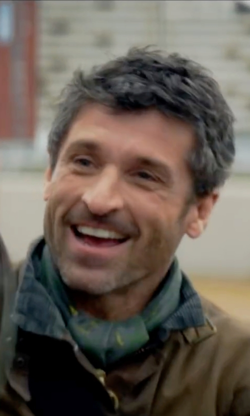 Patrick Dempsey with Cole Haan Coated Field Jacket in Bridget Jones's Baby