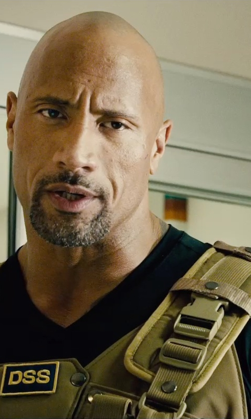 Dwayne Johnson with Shellback Tactical Banshee Rifle Plate Carrier Tactical Vest in Furious 7