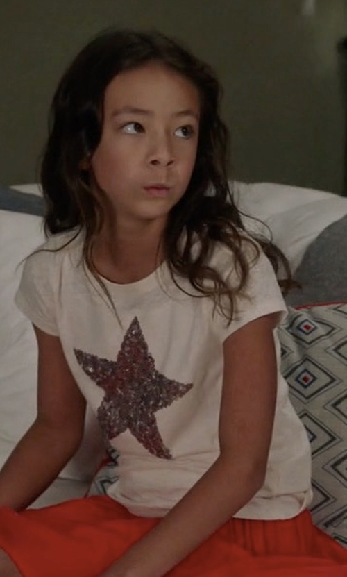 Aubrey Anderson-Emmons with J.Crew Girls' Sequin Star T-Shirt in Modern Family