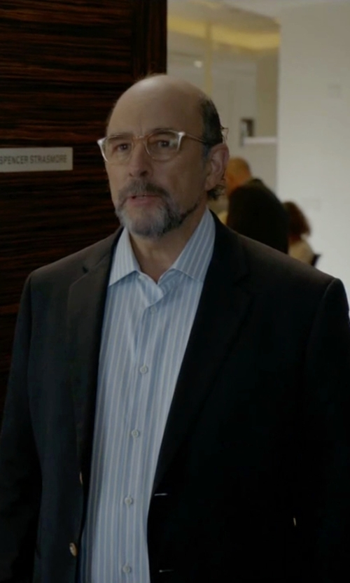 Richard Schiff with Calibrate Trim Fit Wool & Mohair Blazer in Ballers