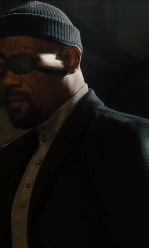 Samuel L. Jackson with Dolce & Gabbana Buttoned Blazer in Avengers: Age of Ultron