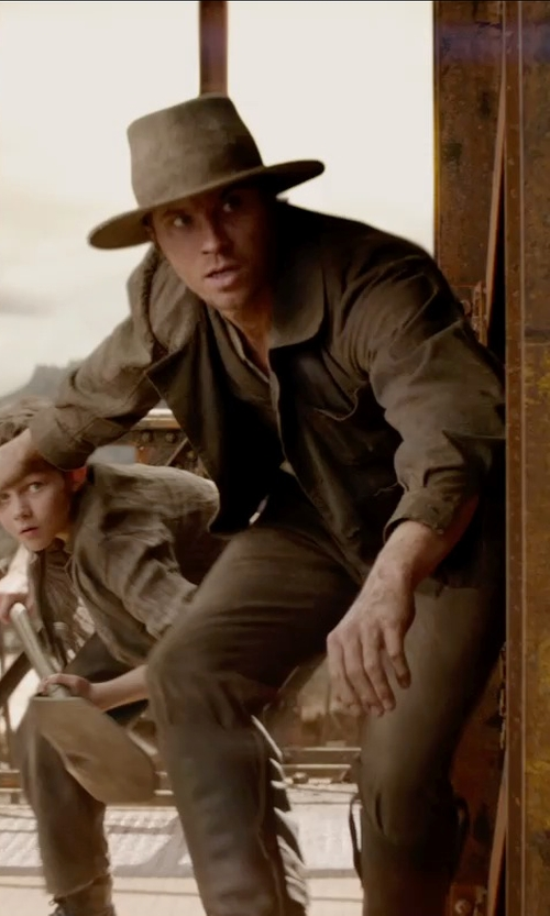 Garrett Hedlund with Jacqueline Durran (Costume Designer) Custom Made Field Jacket (Hook) in Pan