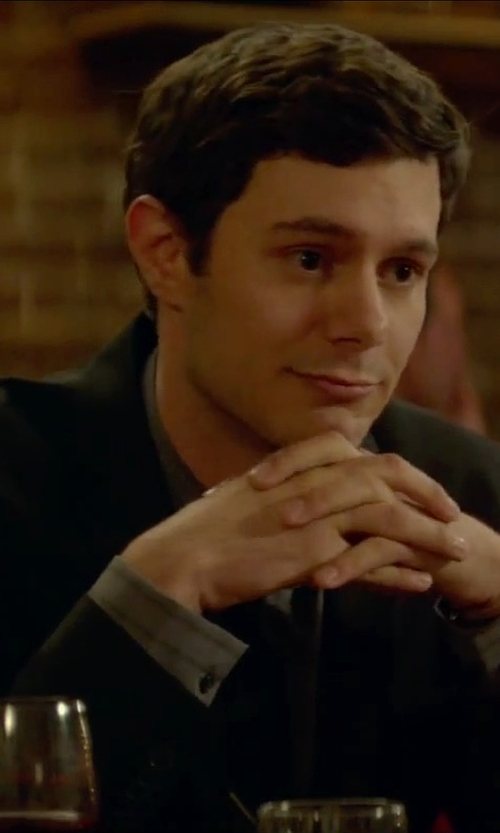 Adam Brody with Boss Hugo Boss Trim Fit Wool Suit in Sleeping with Other People