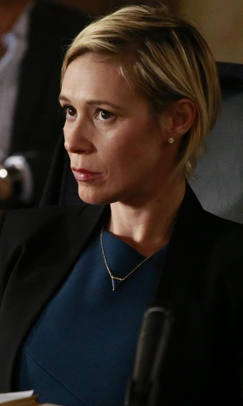 Liza Weil with Elie Tahari Marley Sleeveless Sheath Dress in How To Get Away With Murder