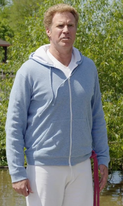 Will Ferrell with 7 For All Mankind Standard Clean White Jeans in Get Hard