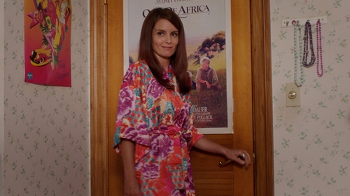 Tina Fey with SexyTown Kimono Robe - Peacock & Blossoms Short Style in Sisters