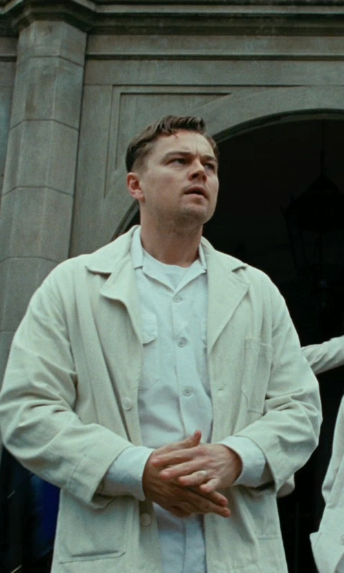 Leonardo DiCaprio with Sandy Powell (Costume Designer) Orderly Uniform Outer Jacket (Leonardo DiCaprio) in Shutter Island