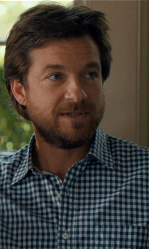 Jason Bateman with VINCE CAMUTO Fitted Checkered Dress Shirt in This Is Where I Leave You