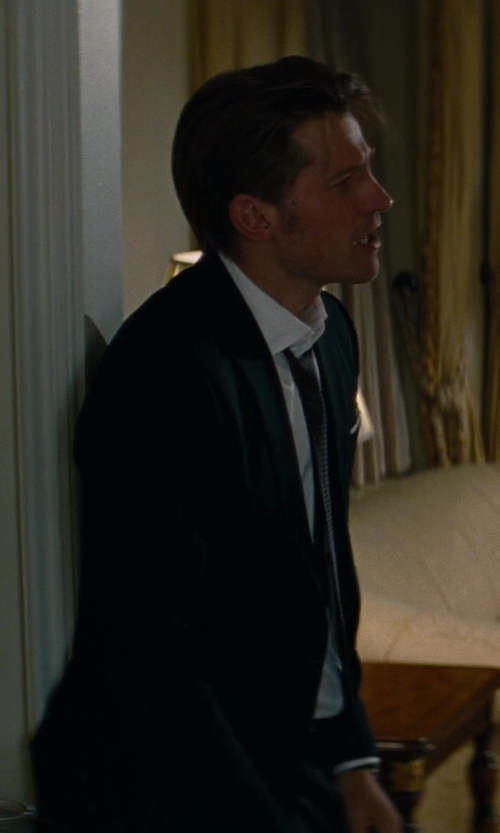 Nikolaj Coster-Waldau with Brioni Solid Satin Tie in The Other Woman