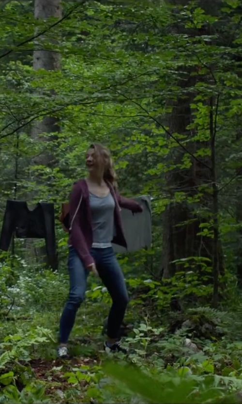 Natalie Dormer with Paige Denim Pants in The Forest