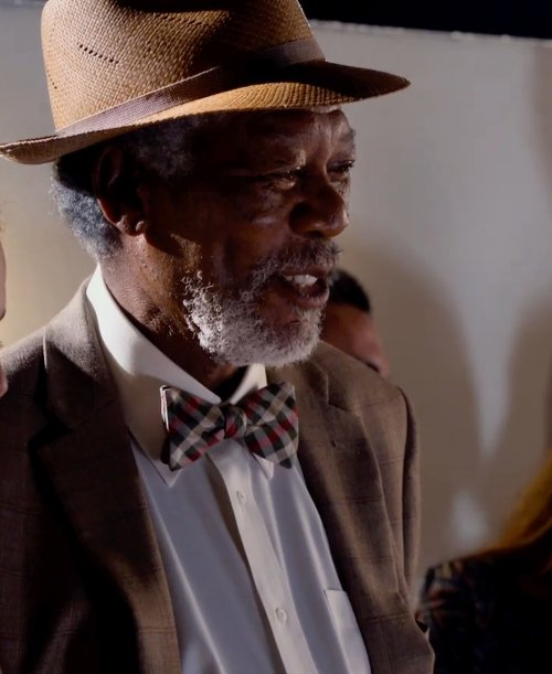 Morgan Freeman with Michael Kors Silk Bow Tie in Dolphin Tale 2