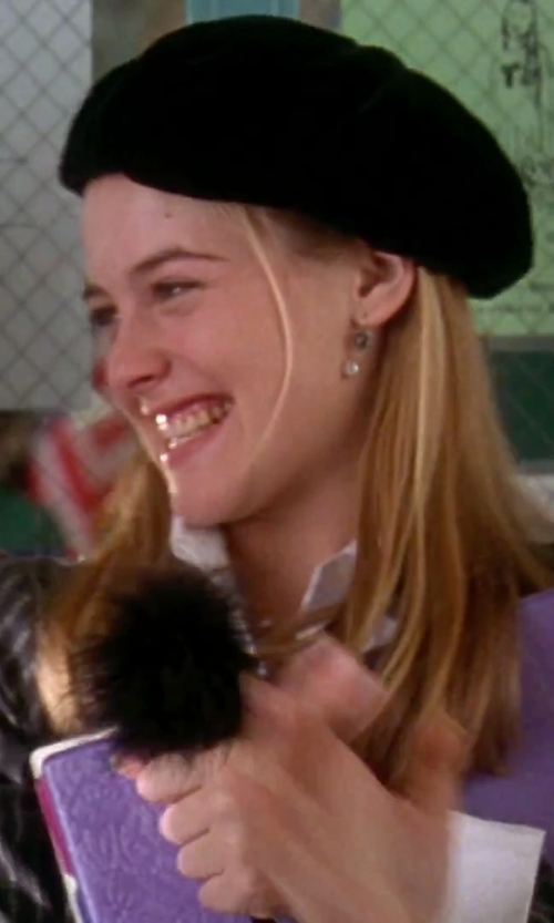Alicia Silverstone with Parkhurst Classic Wool Beret Hat in Clueless