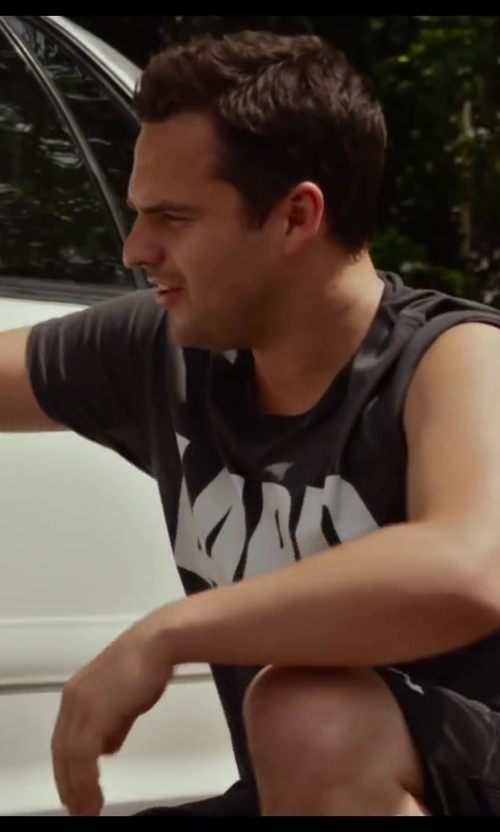 Jake Johnson with JCPenney Arizona Slub Crew Neck T-Shirt in Let's Be Cops