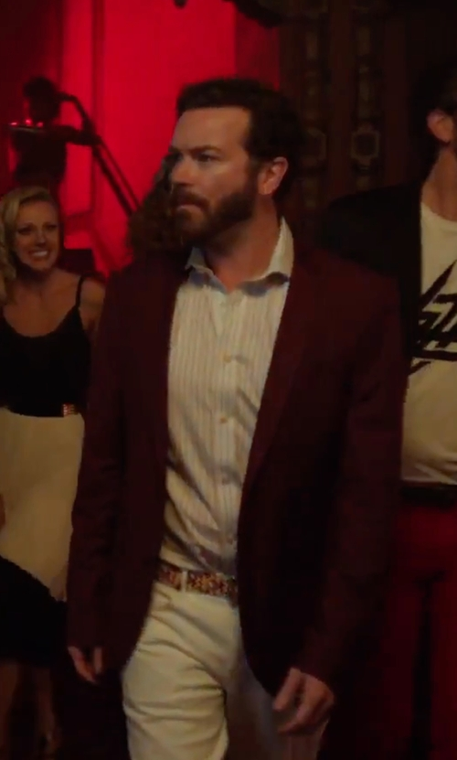 Danny Masterson with Heart & Dagger Herringbone Blazer in Urge