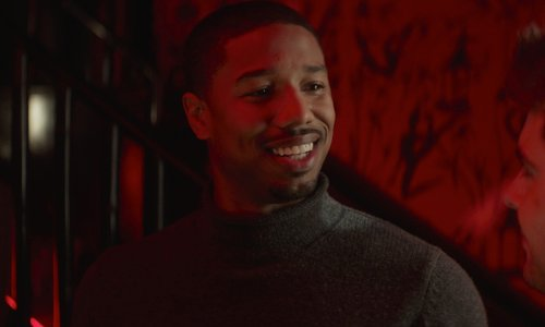 Michael B. Jordan with Lands' End Cashmere Turtleneck Sweater in That Awkward Moment