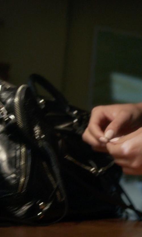 Shay Mitchell with Born Sacramento Crossbody Bag in Pretty Little Liars