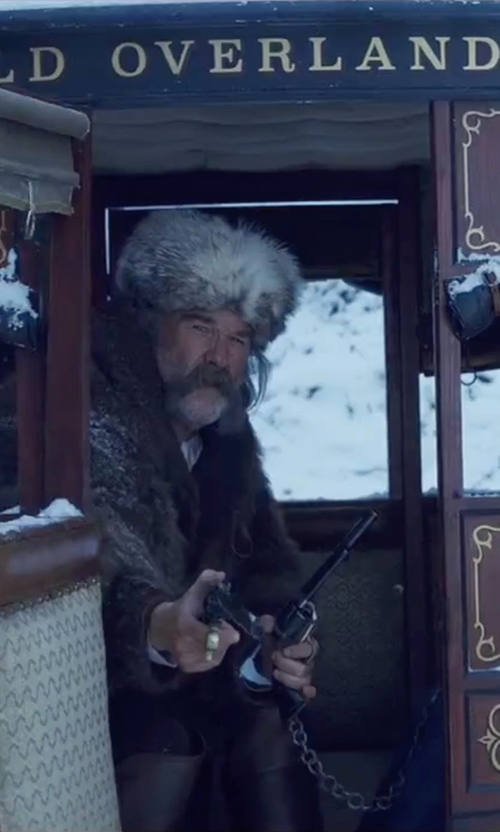 Kurt Russell with Suzanne Felsen Baguette Union Band in The Hateful Eight