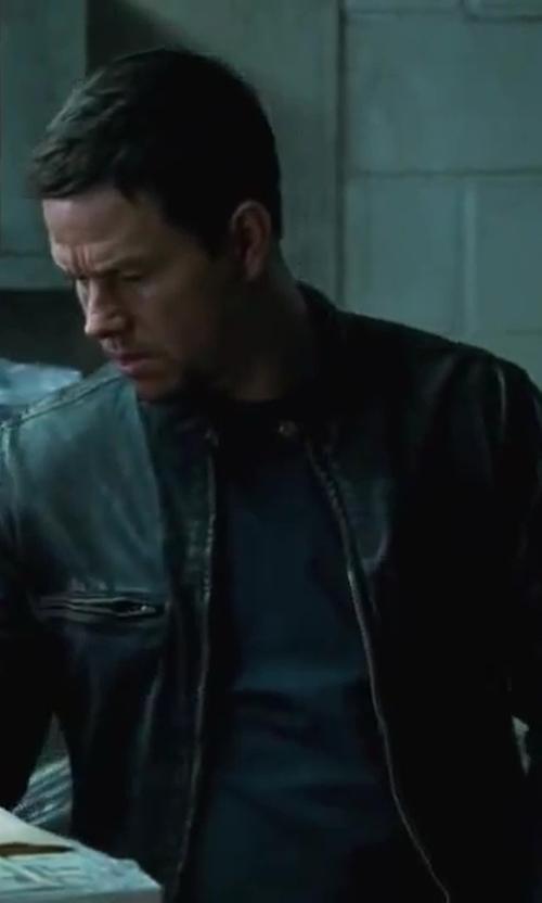 Mark Wahlberg with ATM Anthony Thomas Melillo Crew Neck Slub Jersey T-Shirt in Contraband