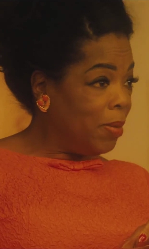Oprah Winfrey with Carolee Rio Radiance Floral Crystal Cluster Earrings in Lee Daniels' The Butler