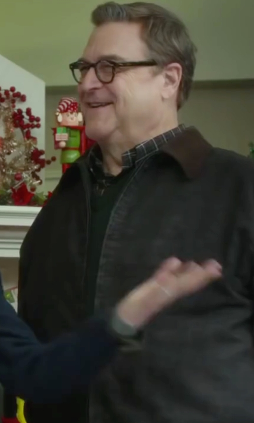 John Goodman with Boss 'Melba-D' Merino Wool V-Neck Sweater in Love the Coopers