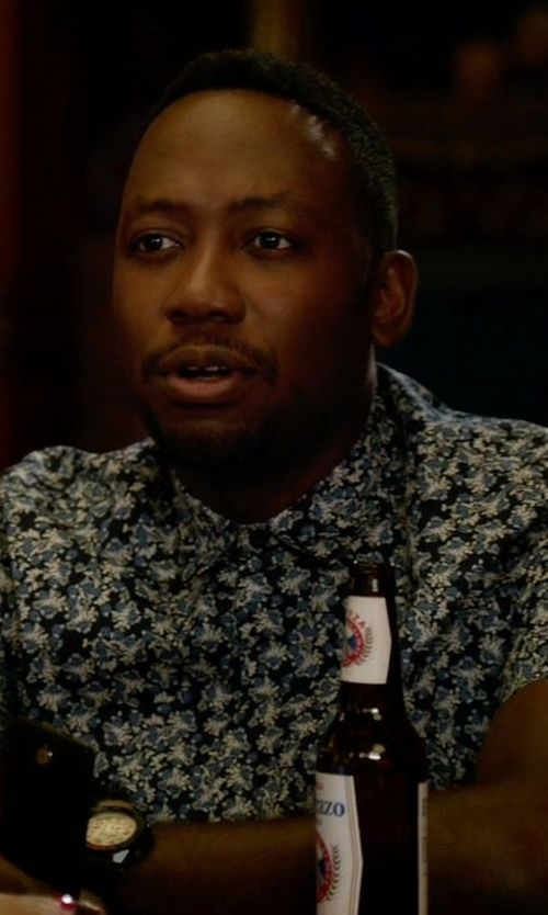 Lamorne Morris with Vissla Californica Short Sleeve Woven Shirt in New Girl