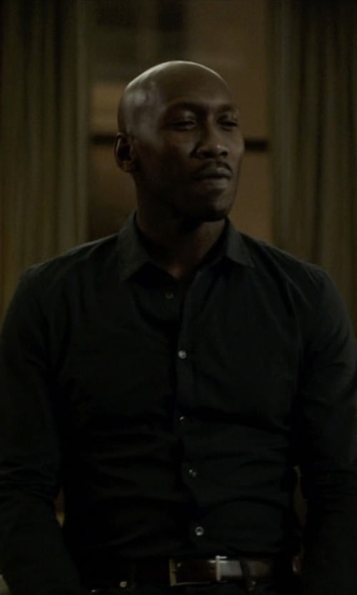 Mahershala Ali with David Donahue Regular Fit Royal Oxford Dress Shirt in House of Cards
